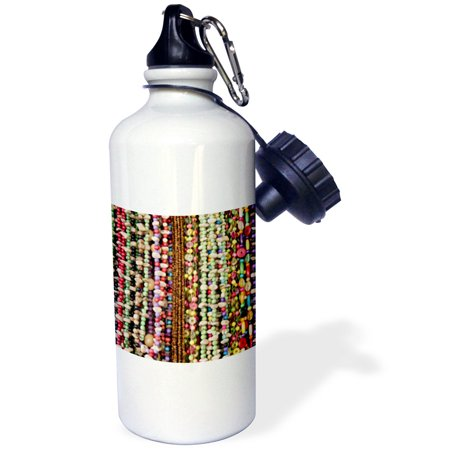3dRose Brazil, Amazon, Manaus. Souvenir necklaces., Sports Water Bottle, 21oz
