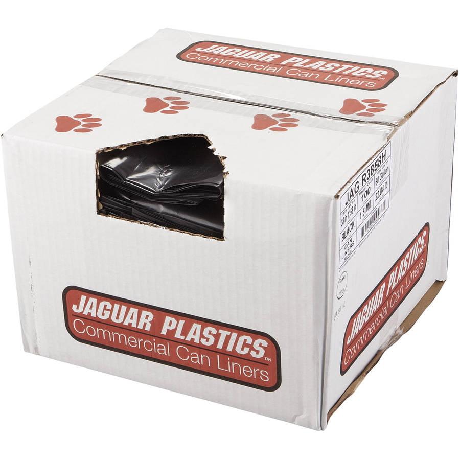 Jaguar Plastics Repro Low-Density 60 Gallon Can Liners, 100 count