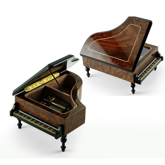 Incredible 36 Note Classic Style Grand Piano Music Box - Diamonds are a  Girls Best Friend