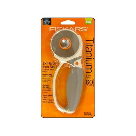 - Fiskars Rotary Cutter 60mm Comfort Loop Titanium