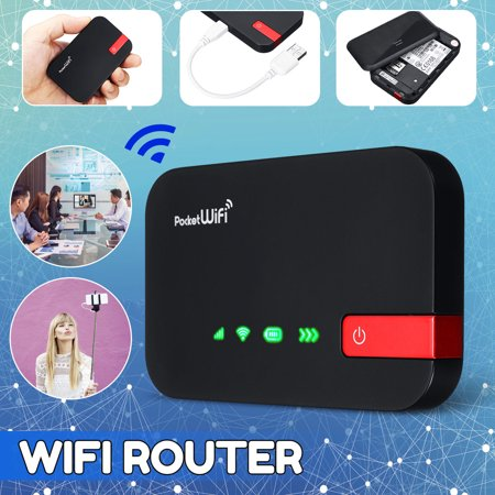 4G Wireless Router Mobile Broadband Hotspot Portable WIfi Modem LCD Display SIM Card Support 10 Devices User for Car Mobile Camping Travel Meeting