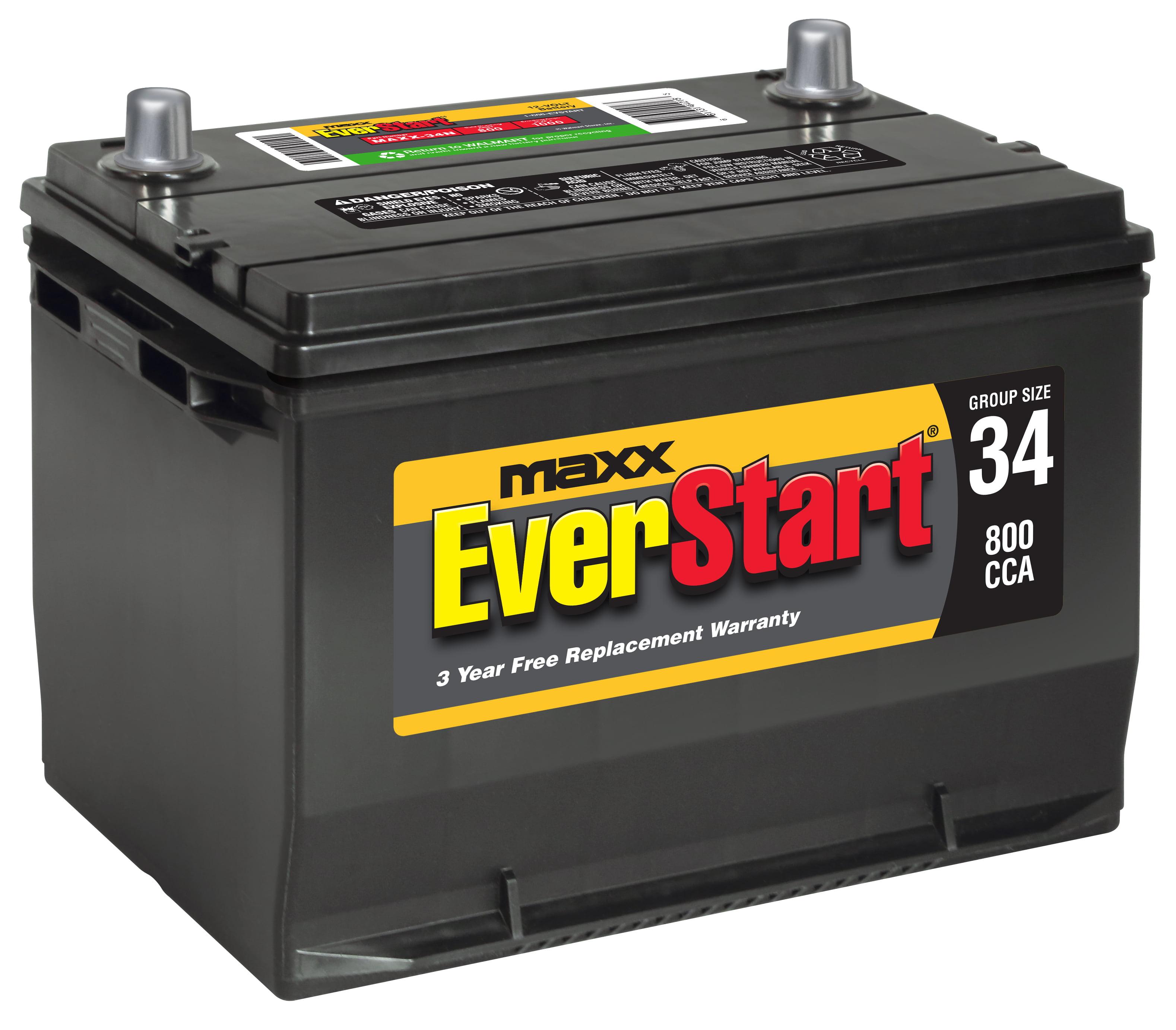 Everstart Maxx Lead Acid Automotive Battery Group Size 34n 12 Volt 800 Cca Walmart Com Walmart Com