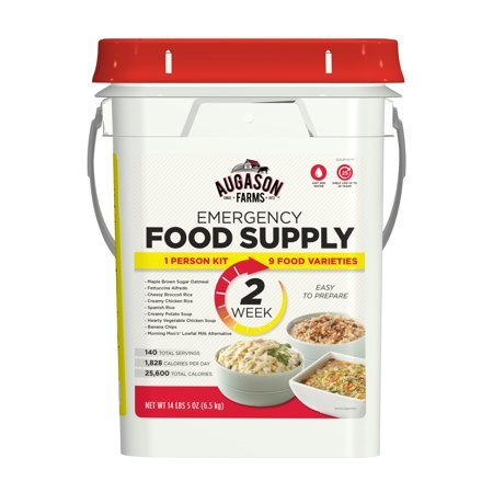 Augason Farms 2-Week 1-Person Emergency Food Supply Kit 14 lbs 5