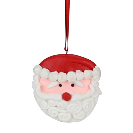 Sweet Memories Frosted Santa Claus Face Cookie Christmas Ornament