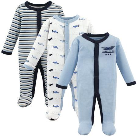 Generic Preemie baby boy sleep 'n play, 3-pack Micro Preemie Clothes