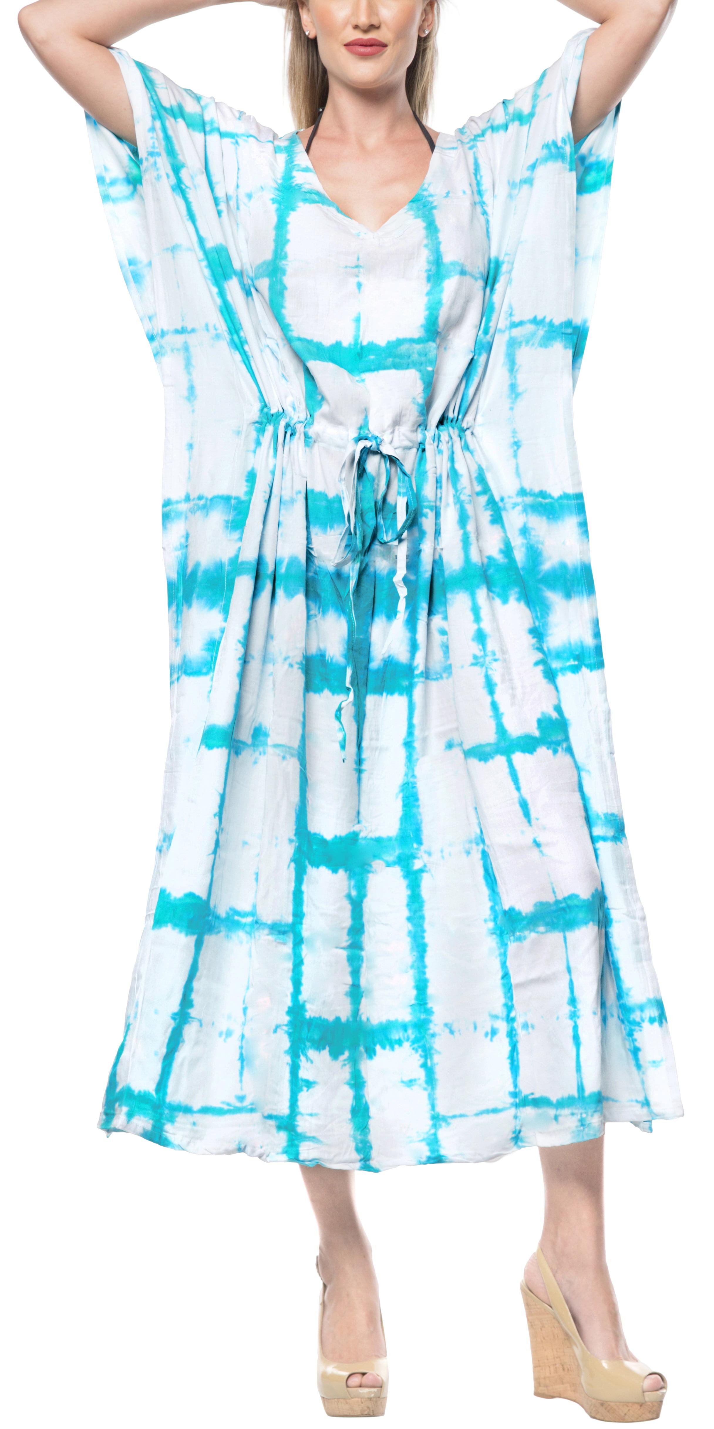 c6a7485d46 HAPPY BAY - Womens Stylish Gown Summer Maxi Dress Rayon Tunic Dress Free  Size Caftan Tie Dye Ladies kaftan - Walmart.com