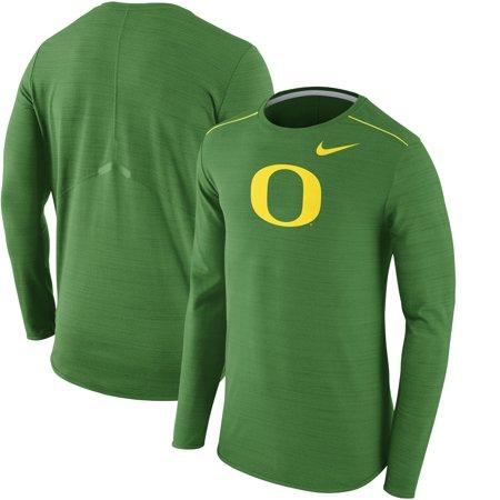 Oregon Ducks Nike Player Top Performance Long Sleeve T-Shirt - Heathered Green