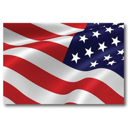 Waving Reverse American Flag Car Magnet Decal - 4 x 6 Heavy Duty for Car Truck SUV …