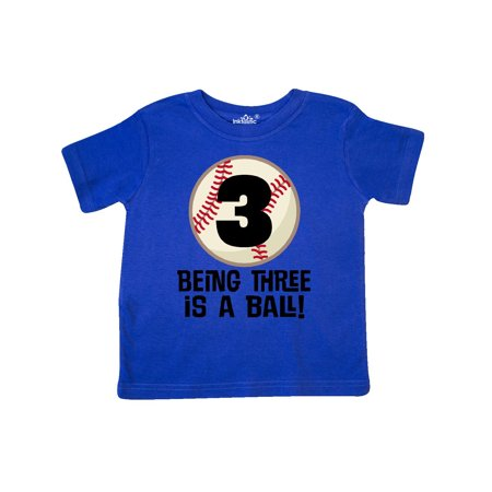 3rd Birthday Baseball 3 Year Old Boy Toddler T Shirt