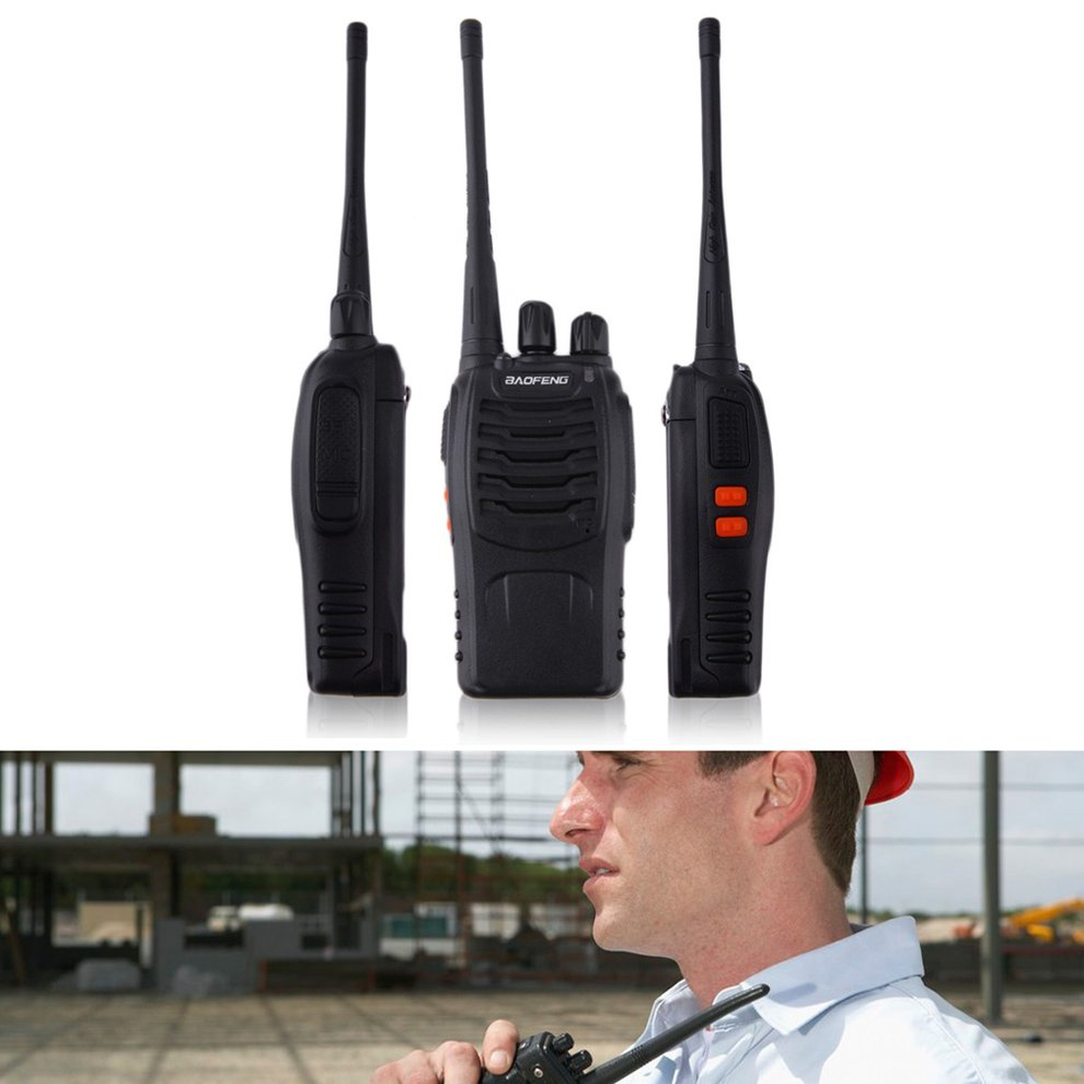 BF-888S Walkie Talkie UHF 400-470MHZ 2-Way Radio 16CH 5W Long Range US Plug by