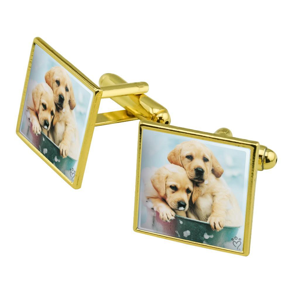 Cufflinks in Presentation box Retriever dog