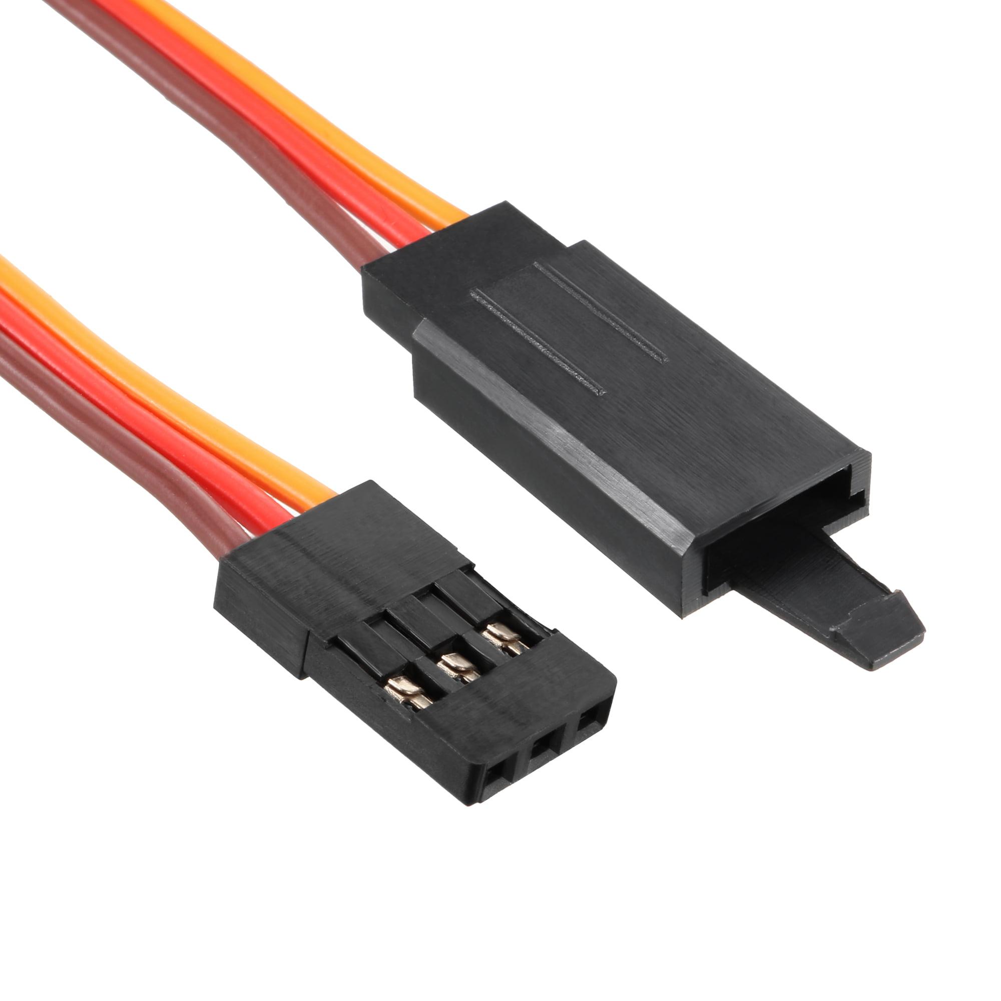RC 3 Pin Compatible JR Hitec Servo Connector Female Plug Housing Black 10 No Pin