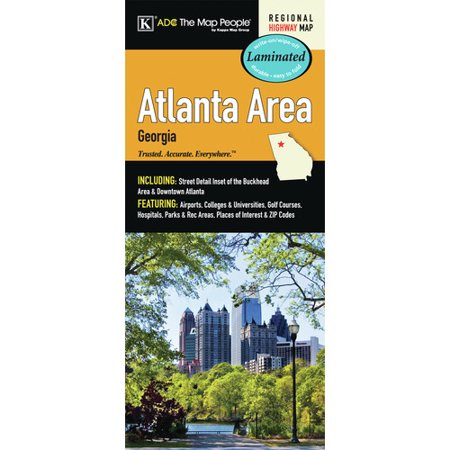 Buckhead Zip Code Map.Universal Map Atlanta Georgia Area Laminated Map Walmart Com