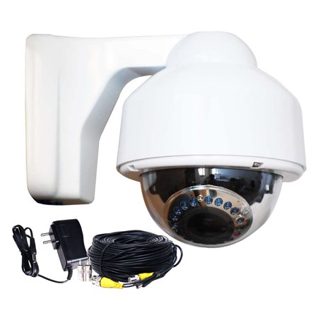 VideoSecu Outdoor IR Day Night Security Camera Varifocal Lens 700TVL Built-in 1/3 inch Sony Effio CCD w/ Power and Cable