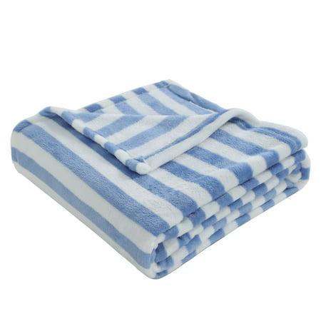 Warm Soft Fleece Throw Blanket Plush Reversible Printed Blanket ()