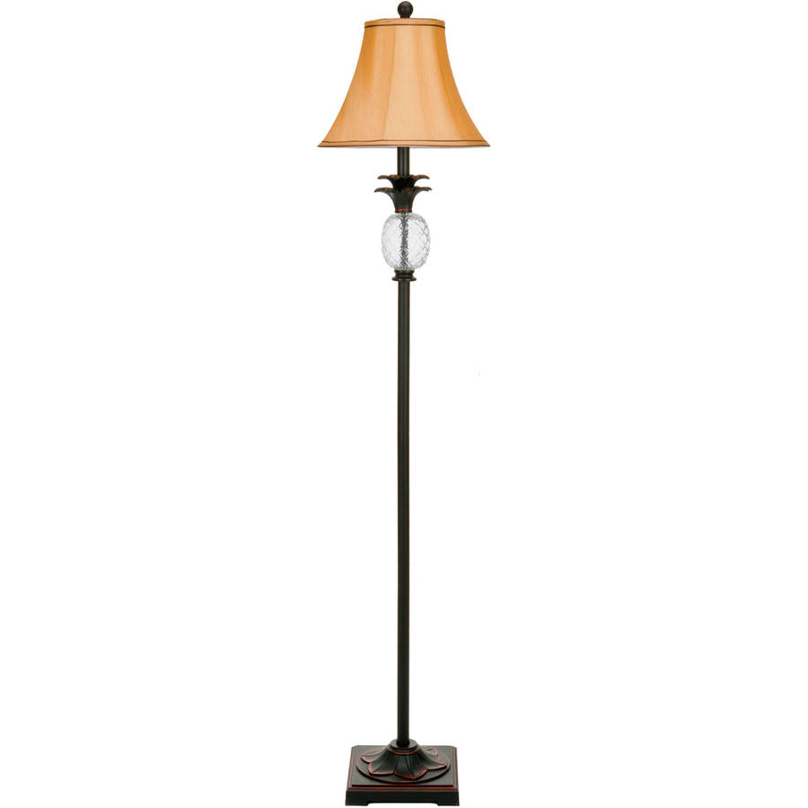 safavieh alyssa tall pineapple lamp with cfl bulb black with bavaria cream shade - Pineapple Lamp