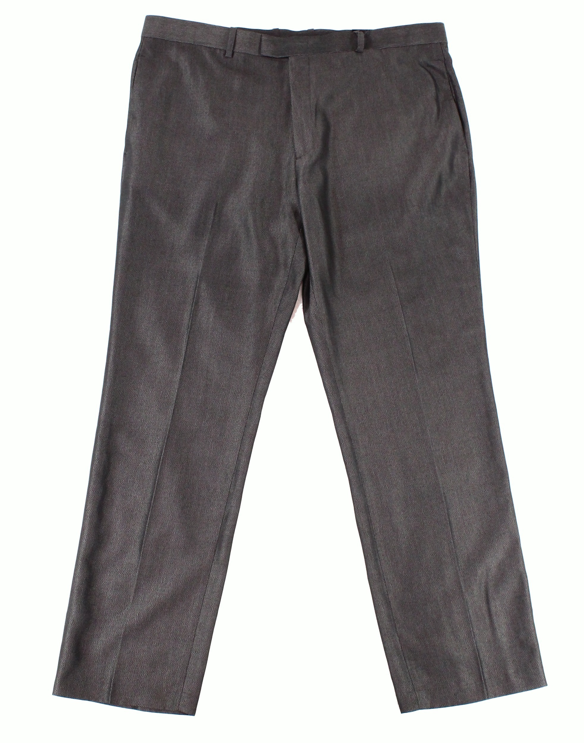 Alfani NEW Black Mens Size 34x29 Embossed Dress Flat Front Pants