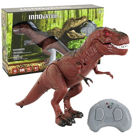Battery Operated Remote Control Walking Toy Dinosaur Figure Light Up Eyes and Sounds Animal Kids Toy Christmas Gift Animal Sounds Tot Tower