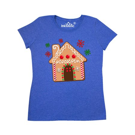 Gingerbread House Cookie with Snowflakes Women's T-Shirt