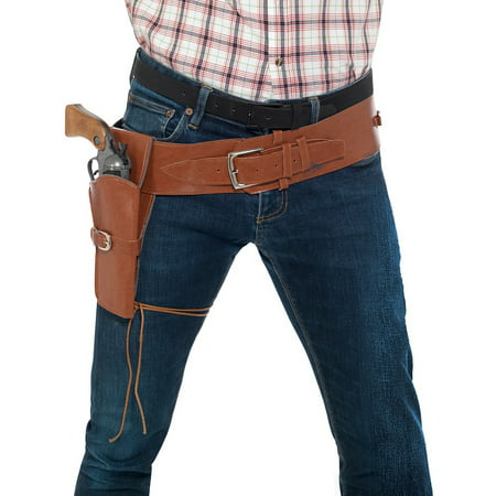 Single Holster with Belt Adult Costume Accessory Brown - Black Widow Costume Belt