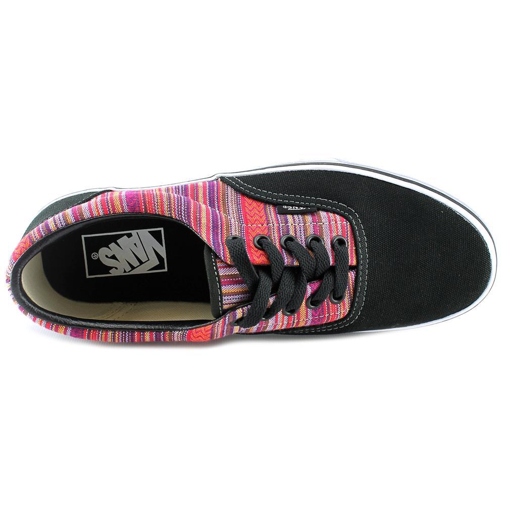 Vans Era Guate Weave Black/Multi Color Ankle-High Canvas Skateboarding Shoe - 12M / 10.5M
