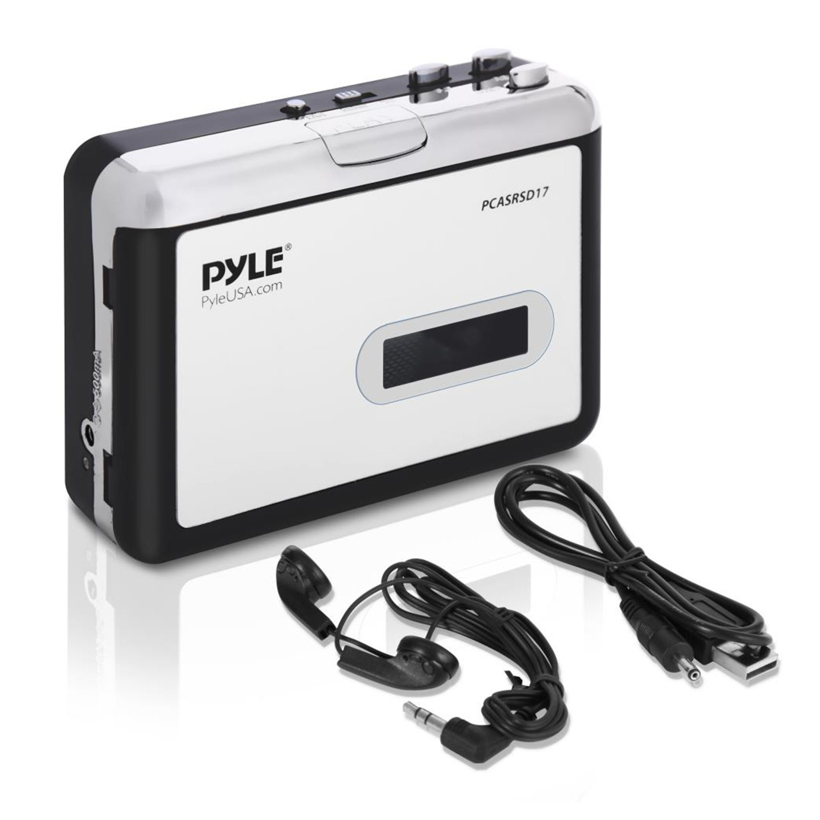 Pyle Cassette Tape to MP3 Converter Recorder - Tape Audio Digitizer