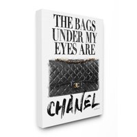 Stupell Industries Glam Bags Under My Eyes Black Bag Canvas Wall Art by Amanda Greenwood