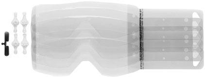 Clear//One Size Scott Recoil Xi//80 7 Packs Of 3 Works Prostack Tearoffs