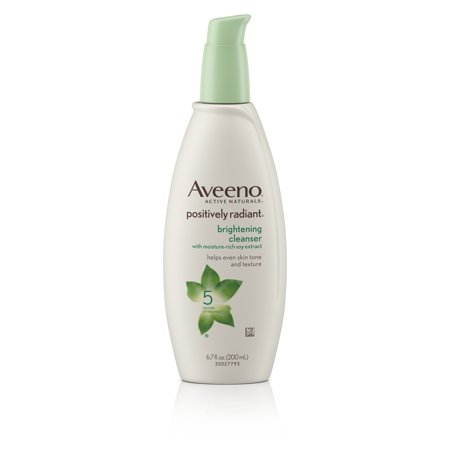 Triple Care Cleanser - Aveeno Positively Radiant Brightening Facial Cleanser, 6.7 fl. oz