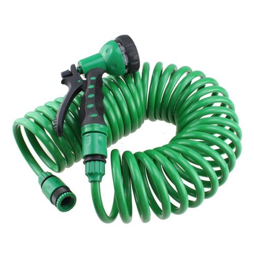 AGPtEK EVA 32FT/10M Expandable Garden Hose With Spray Nozzle for Gardening, Recreational Vehicles, Pools, Workshops