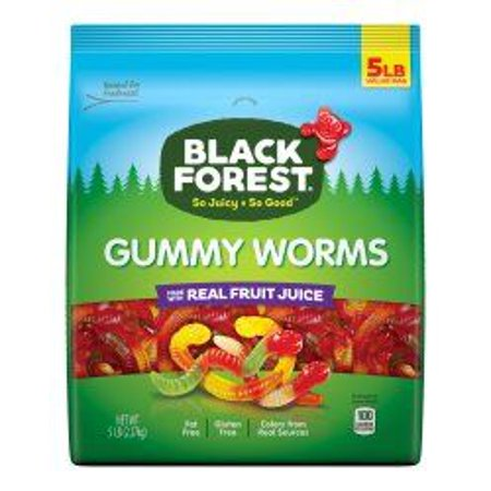 Black Forest, Fat Free, Gluten Free Assorted Gummy Worms, 5 Pound Buld - Hasbro Gummy Bears