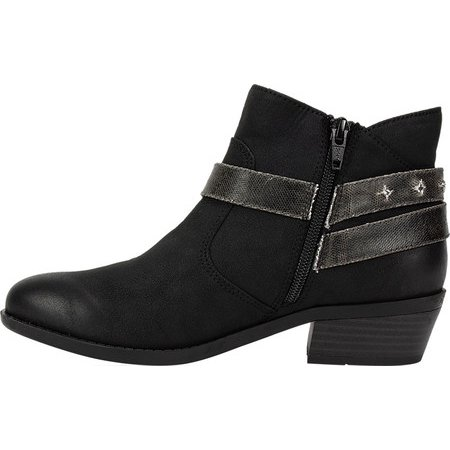 910af060cf63d Women's White Mountain Sandy Ankle Boot Black Sueded Fabric 6 M ...
