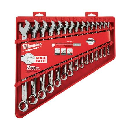 Milwaukee MAX BITE various x various SAE 15 pc. Wrench Set