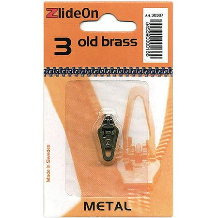 Rhinestone Zipper Pull (Fix A Zipper ZlideOn Zipper Pull Replacements Metal 3 )