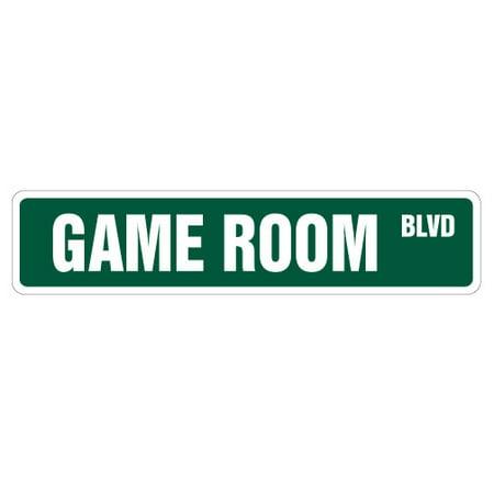 GAME ROOM Street Sign pinball foosball air hockey pool | Indoor/Outdoor | 24