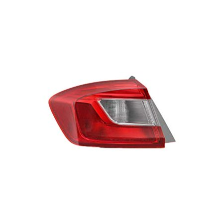 Tail Light - Pacific Best Inc. For/Fit 16-18 Chevrolet Cruze Sedan Tail Lamp Assembly Right Hand Passenger Outer On Body;