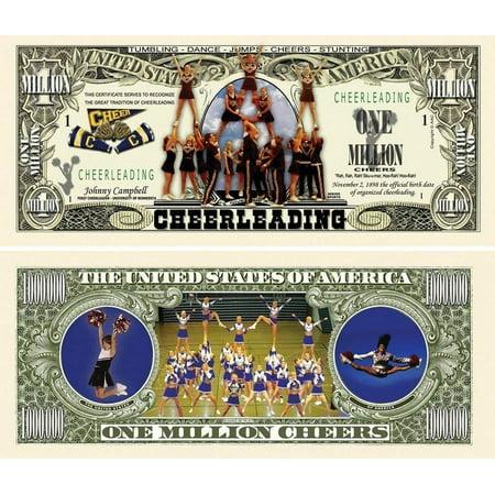 "One Dollar Silver Certificate (25 Cheerleading Million Dollar Bills with Bonus ""Thanks a Million"" Gift Card Set )"