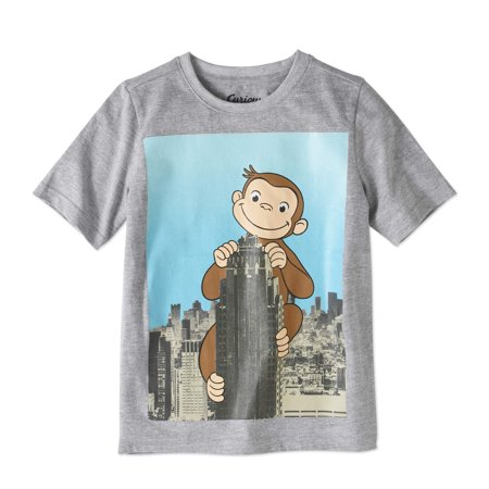 Curious George Boys Short Sleeve Skyscaper Graphic T Shirt