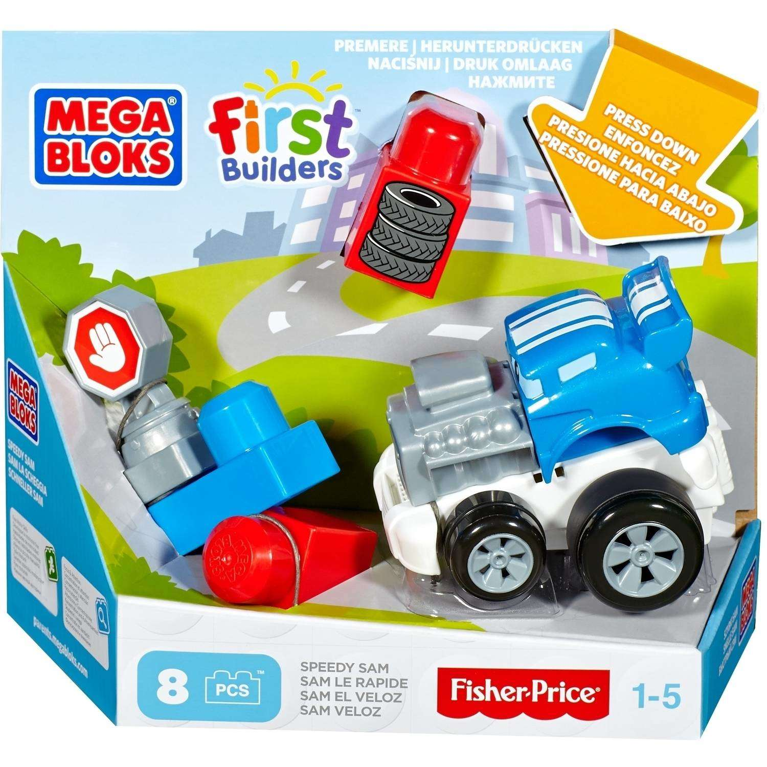 Mega Bloks First Builders Speedy Sam by Mattel