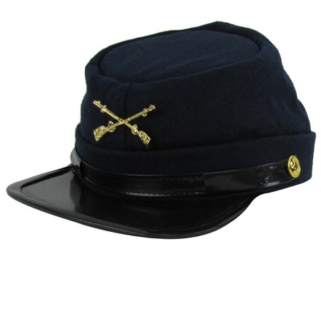 Union Army Infantry Soldier Civil War Reenactor Kepi Wool Hat Small Medium Large