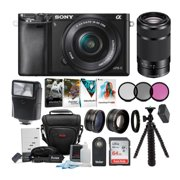 Sony a6000 Mirrorless Camera with 16-50mm and 55-210mm Lens (Black) Bundle