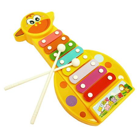 DZT1968Kid Baby Musical Instrument 8-Note Xylophone Toy Wisdom Development