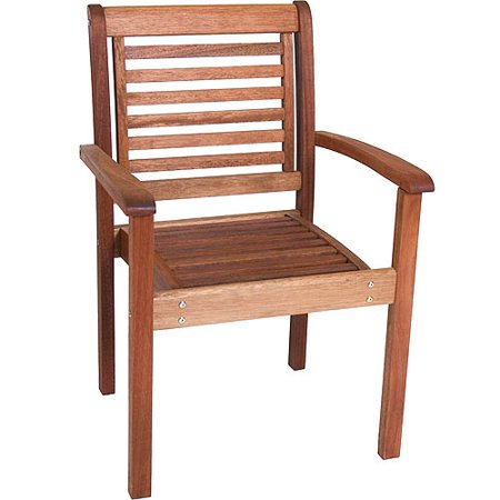 Milano Eucalyptus Wood Outdoor and Patio Stackable Chair (Chair Eucalyptus Wood)