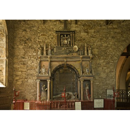 Tomb of Richard Boyle1566 - 1643 First Earl of Cork St Marys Church Youghal Co Cork Ireland Stretched Canvas - Panoramic Images (9 x