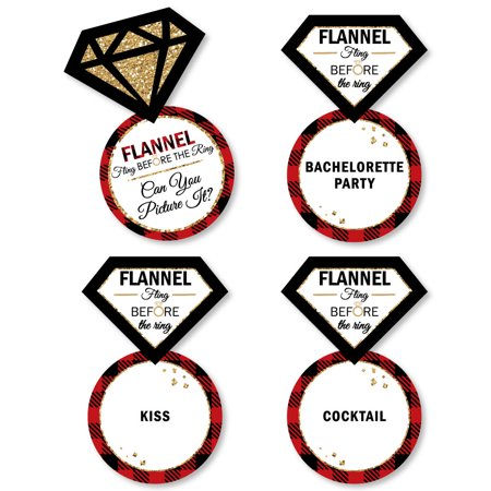 Flannel Fling Before The Ring - Buffalo Plaid Bachelorette Party Game - Can You Picture It Card Game - Set of -