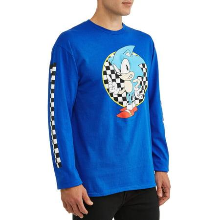 Men's Sonic The Hedgehog SEGA Video Game Long Sleeve Graphic T Shirt