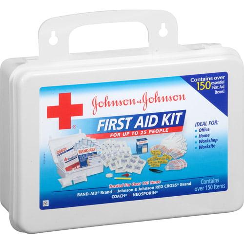 Johnson & Johnson First Aid Kit, 152 pc