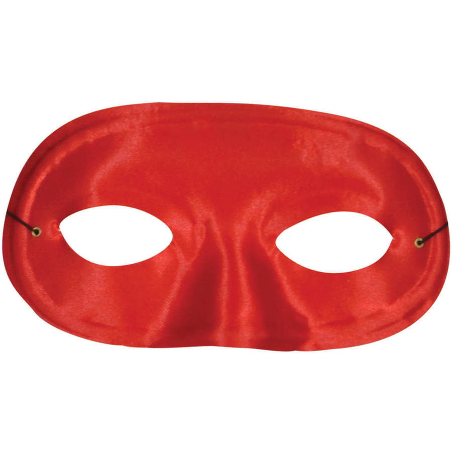 Red Half Domino Mask Adult Halloween Accessory