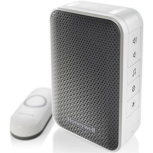 Honeywell 3 Series Portable Wireless Doorbell with Strobe Light & Push Button - RDWL313A-RDWL313A2000/E