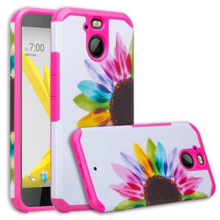 - HTC Bolt Case, HTC Bolt [Shock/Impact Resistant] Hybrid Dual Layer Defender Protective Cover for HTC Bolt - Sun Flower